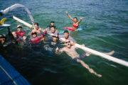 Surfers enjoying themselves at Sanur Surf Camp