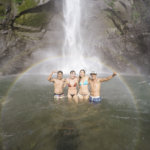 water fall trip with friends