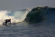 surfing in sanur