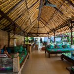lounge area surf camp in sanur