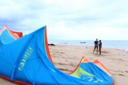 beginner kite surfer